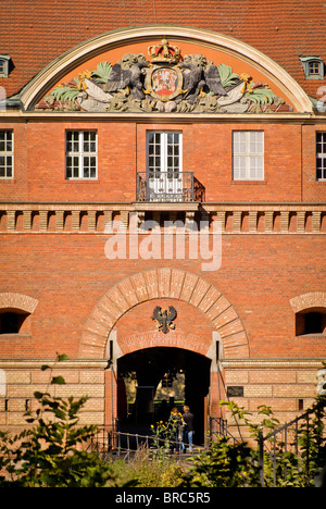 Entrance to the spandau citadel, one of the best preserved Renaissance fortresses in Germany built in the 16th century, in the 1