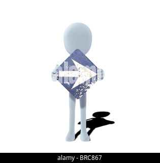 concept figure with sign right - Stock Photo