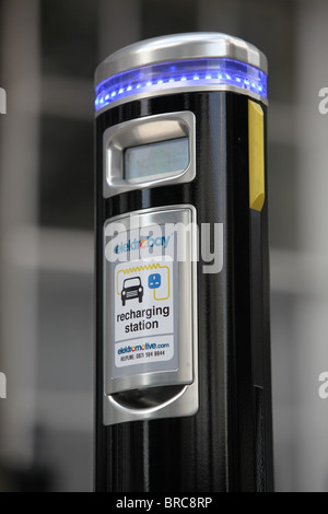 An electric car charging point in London - Stock Photo