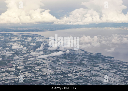 Flying over Thailand - Stock Photo