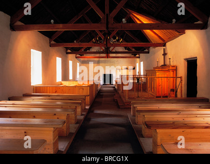 Ulster American Folk Park, Omagh, Co Tyrone, Ireland; Mass House From 1768 - Stock Photo