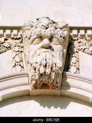 Dublin, Co Dublin, Ireland, Custom House, Architectural Detail Of River Gods Of Ireland - Stock Photo