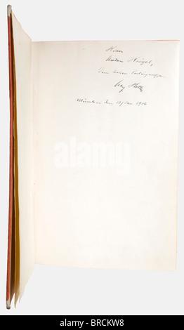 Adolf Hitler - Anton Heigl, Blood Order bearer, a first edition of 'Mein Kampf - Eine Abrechnung' (Mein Kampf - - Stock Photo