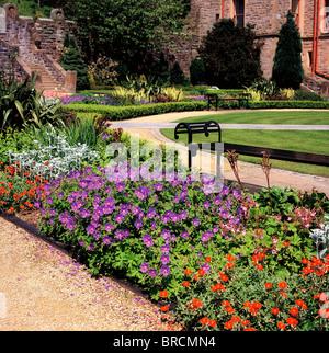 Belfast Castle, Belfast, Co Antrim, Ireland; 19Th Century Castle Gardens - Stock Photo