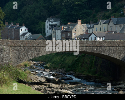the english seaside resort of lynton and lynmouth on the north devon coast - Stock Photo