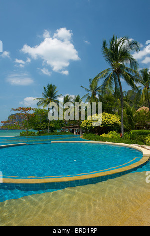 Swimming Pool of the Rayavadee Resort, Krabi, Thailand - Stock Photo
