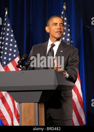 President of the United States of America Barack Hussein Obama - Stock Photo