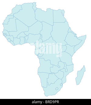 Africa map Stock Vector Art  Illustration Vector Image