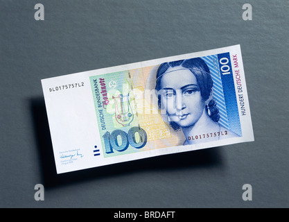 Former 100 German Marks note - Stock Photo