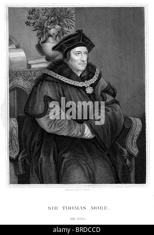 Sir Thomas More also known as Saint Thomas More, was an English lawyer, social philosopher, author, and statesman. - Stock Photo
