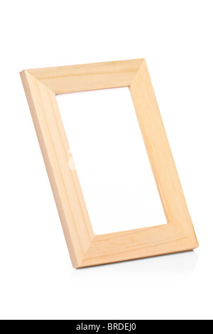 A view of a wooden picture frame - Stock Photo