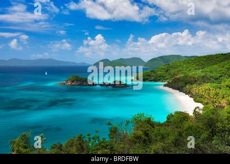 Trunk Beach. St. John Island. US Virgin Islands. Virgin Islands National Park. - Stock Photo