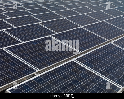 Large array of photovoltaic solar panels - Stock Photo