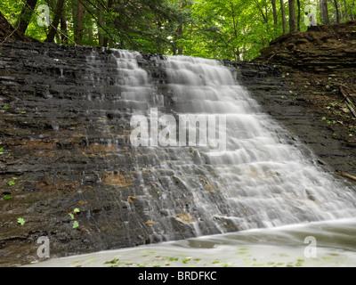 Small cascade waterfall in Hamilton Ontario Canada