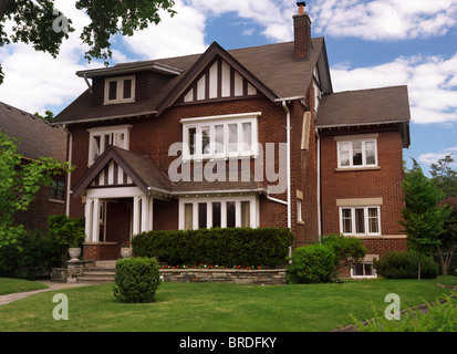 Beautiful large house in Toronto, Ontario, Canada summertime scenic. - Stock Photo