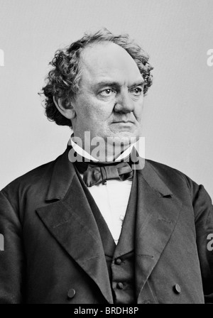 Portrait photo c1860 of 19th century American showman, businessman and circus founder Phineas Taylor Barnum (1810 - Stock Photo