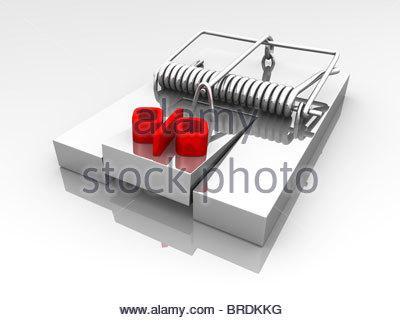 dept trap icon - Stock Photo