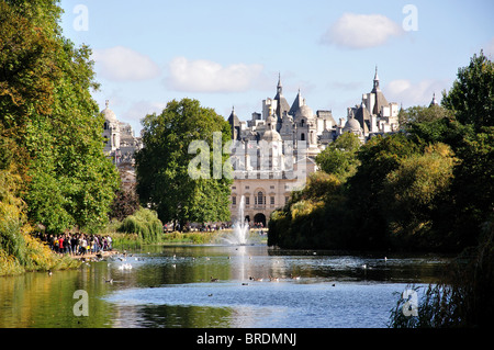 St. James's Park Lake, St. James's Park, St. James's, City of Westminster, Greater London, England, United Kingdom - Stock Photo