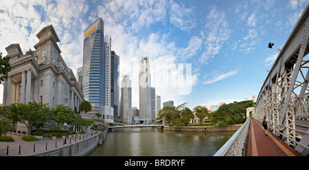 Singapore Business District, Asia - Stock Photo