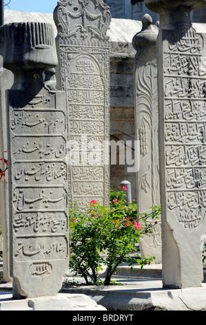 The turbe garden of Beyazit Camii in Istanbul - Stock Photo