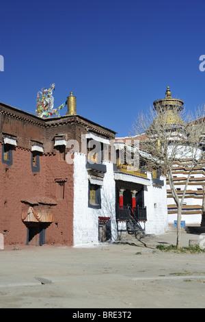 Monks Quarters Palcho Monastery, Gyantse, Tibet. - Stock Photo