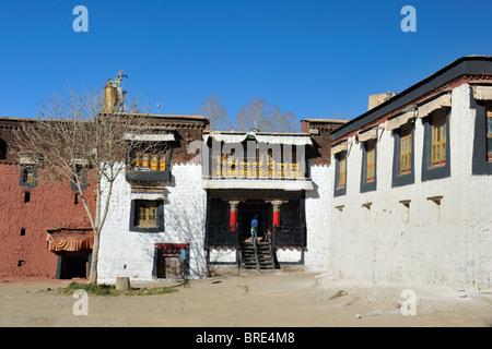 Palcho Monastery, Gyantse, Tibet. - Stock Photo