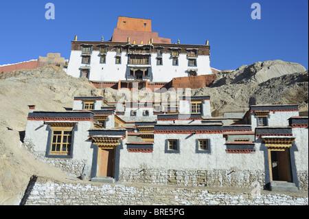 Monks Quarters, Palcho Monastery, Gyantse, Tibet. - Stock Photo