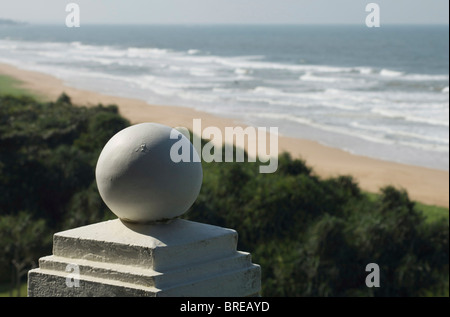 Sri Lanka west coast. Beach at Bentota - Stock Photo