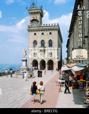 Town Square, Republic of San Marino, Italy - Stock Photo