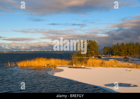 Unden Lake, Tiveden National Park, Sweden, Scandinavia, Europe - Stock Photo