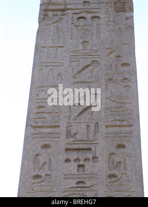 Italy, Rome, Piazza del Popolo Close up of an Egyptian obelisk of Ramesses II from Heliopolis