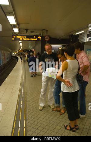 Subway Station TCentralen Tunnelbana Stockholm Sweden Stock - Sweden tunnelbana map