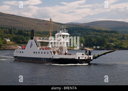 The Corran Ferry crossing Loch Linnhe near Fortwilliam.  SCO 6742 - Stock Photo