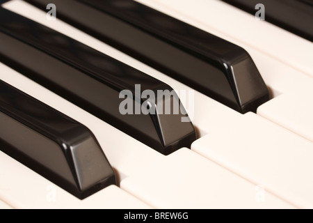 Closeup of the keys on a piano keyboard - Stock Photo