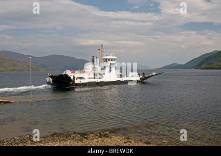 The Corran Ferry crossing Loch Linnhe From Ardgour near Fortwilliam.  SCO 6744 - Stock Photo
