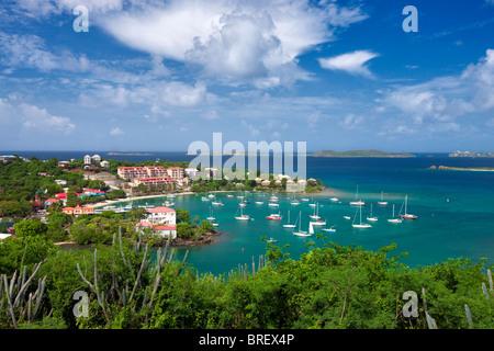 Cruz Bay Harbor. St. John. US Virgin Islands. - Stock Photo