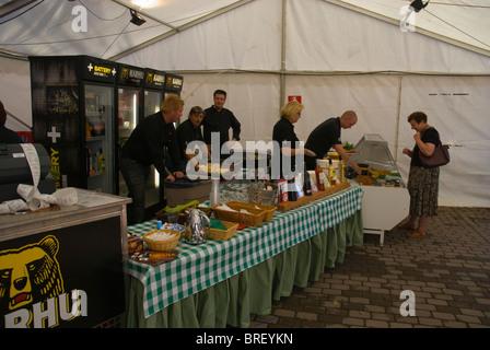 Wine festival during the folk music week in Pori Finland Europe - Stock Photo