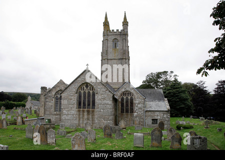 St. Pancras Church, Widecombe-in-the-Moor, Devon, Dartmoor, South England, Great Britain, Europe - Stock Photo
