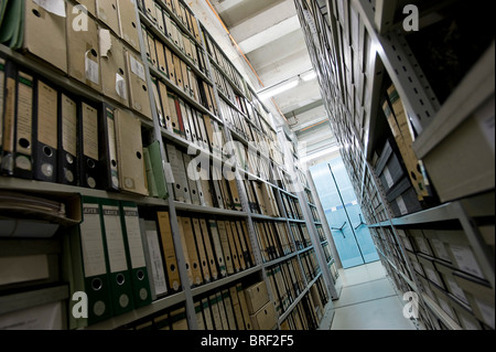 Archive of the Deutsches Technikmuseum, German museum of Technology, Berlin, Germany, Europe - Stock Photo