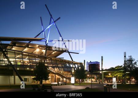 Tram station Neue Mitte, Einkaufszentrum Centro Mall, Oberhausen, Ruhr Area, North Rhine-Westphalia, Germany, Europe - Stock Photo