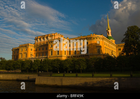 Mikhailovsky Palace at Mihailovsky gardens central St Petersburg Russia Europe - Stock Photo