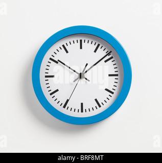 Clock on white background, close-up - Stock Photo