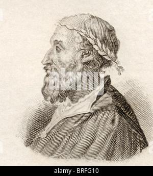 Ludovico Ariosto, 1474 to 1533. Italian poet. - Stock Photo