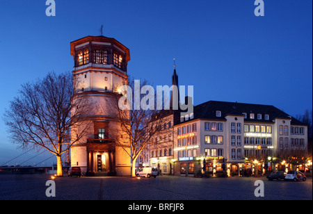 Old Schlossturm tower on Burgplatz Square, Duesseldorf, North Rhine-Westphalia, Germany, Europe - Stock Photo