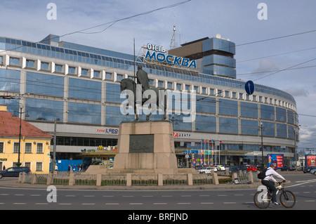 Ploshchad Alexandra Nevskogo square central St Petersburg Russia Europe - Stock Photo