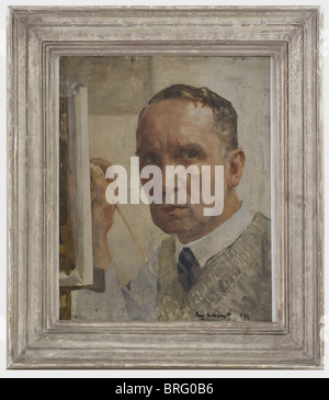 Franz Eichhorst (1885 - 1948), a self portrait (1932) Oil on wood, signed and dated 'Franz Eichhorst 1932' on lower - Stock Photo