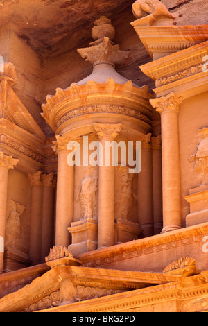The ancient rock carved city Petra, Jordan. - Stock Photo
