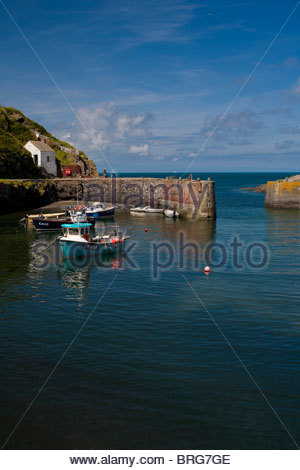 Porthgain Harbour In Pembrokeshire Wales Uk Stock Photo