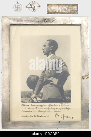 Charlotte Bechstein, a dedication photograph of Dr. Joseph Goebbels Large portrait photograph of the propaganda - Stock Photo