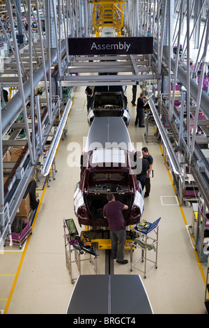 Rolls Royce factory in Goodwood, West Sussex UK Production line for Rolls Royce Phantom and Ghost cars. - Stock Photo